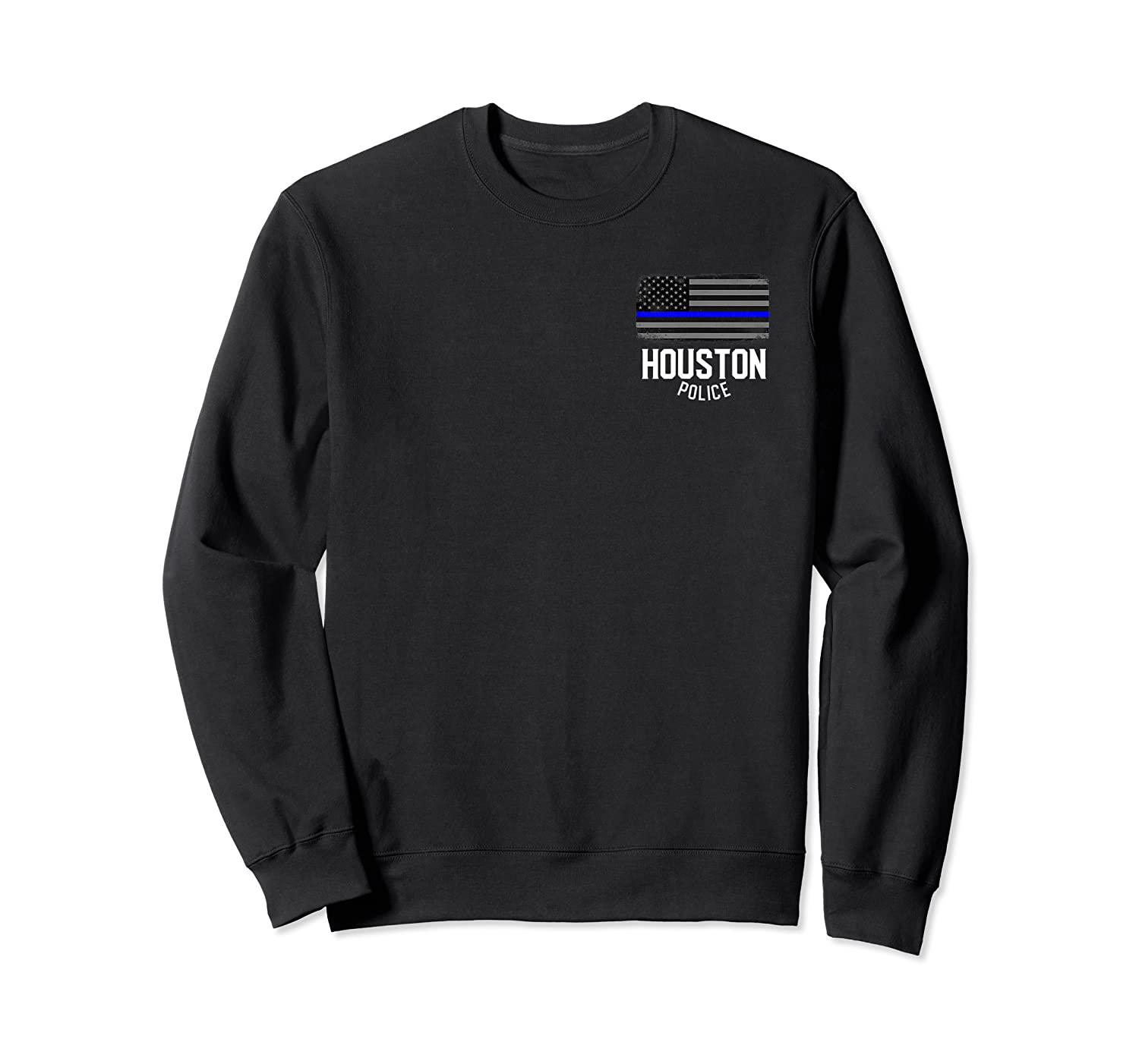 City Of Houston Police Officer Texas Policeman T Shirt Crewneck Sweater