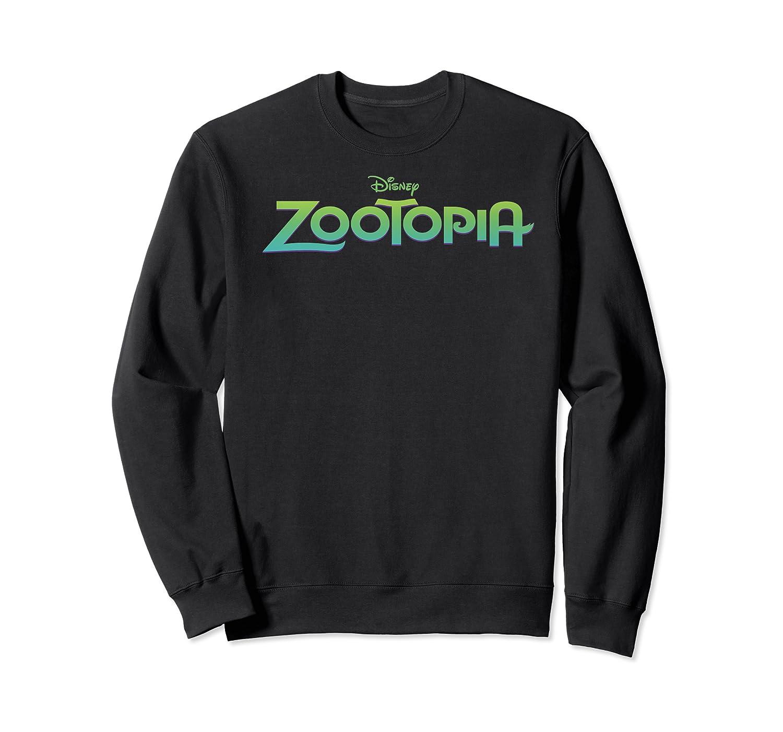 Zootopia Gradient Text Movie Logo Shirts Crewneck Sweater