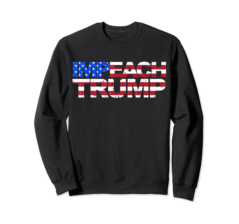 Vintage Impeach Trump American Flag Anti Trump T Shirt Crewneck Sweater