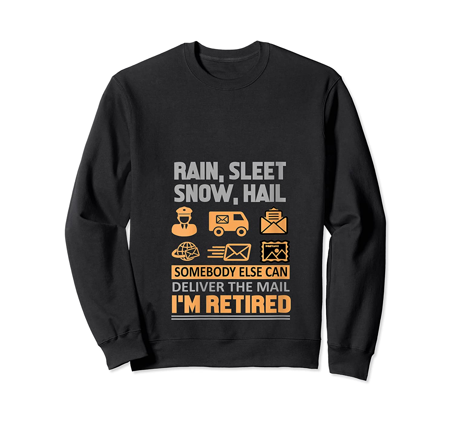 Postal Worker Retiret Gifts Funny Post Office Shirts Crewneck Sweater