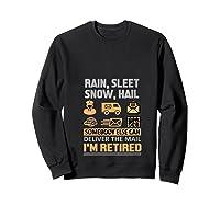 Postal Worker Retiret Gifts Funny Post Office Shirts Sweatshirt Black