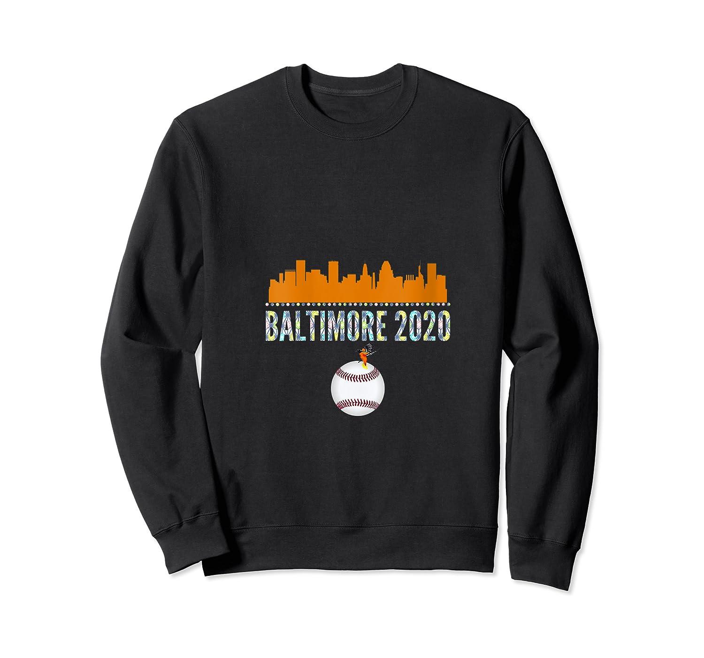 Baltimore Oriole Baseball 2020 Skyline Colorful Font Shirts Crewneck Sweater