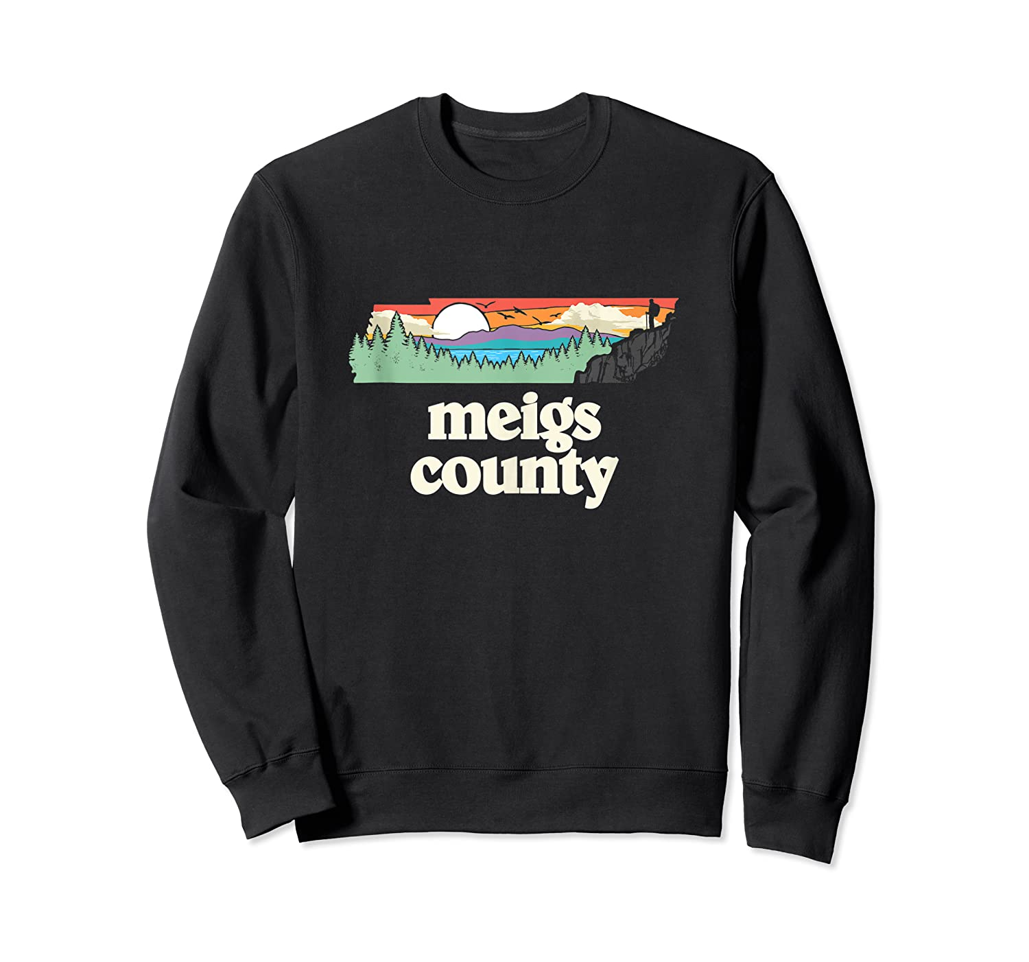 Meigs County Tennessee Outdoors Retro Nature Graphic Tank Top Shirts Crewneck Sweater