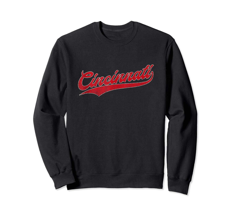 Cincinnati Baseball Ohio Pride Vintage Retro Red Gift Shirts Crewneck Sweater