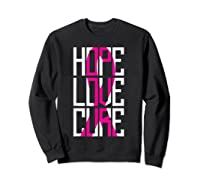 Breast Cancer Awareness Month T Shirt I Pink Ribbon Gift Sweatshirt Black