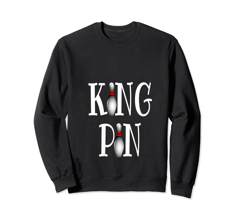 Bowling King Funny Quote Pun Gift Design Shirts Crewneck Sweater