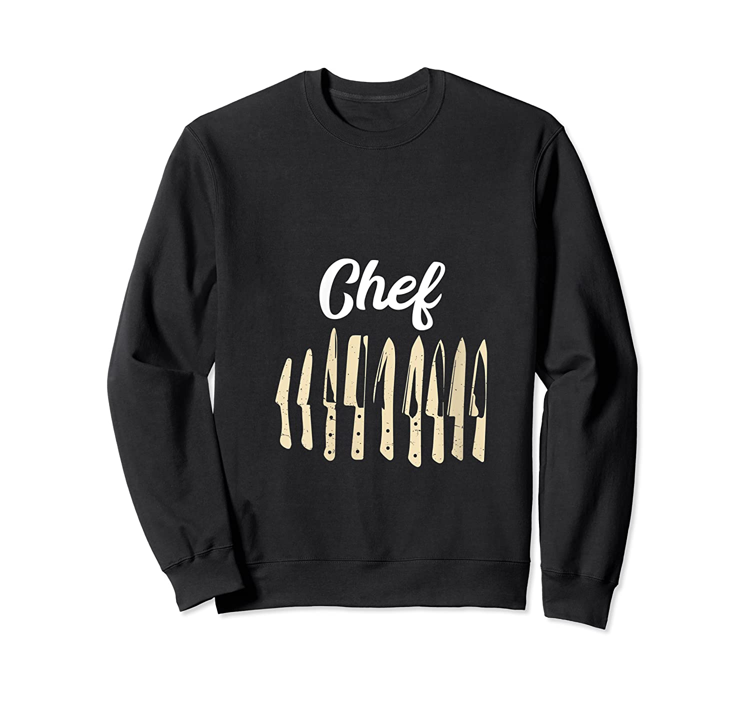 Chef Cooking Vintage Knives Funny Culinary Chefs Gifts T Shirt Crewneck Sweater