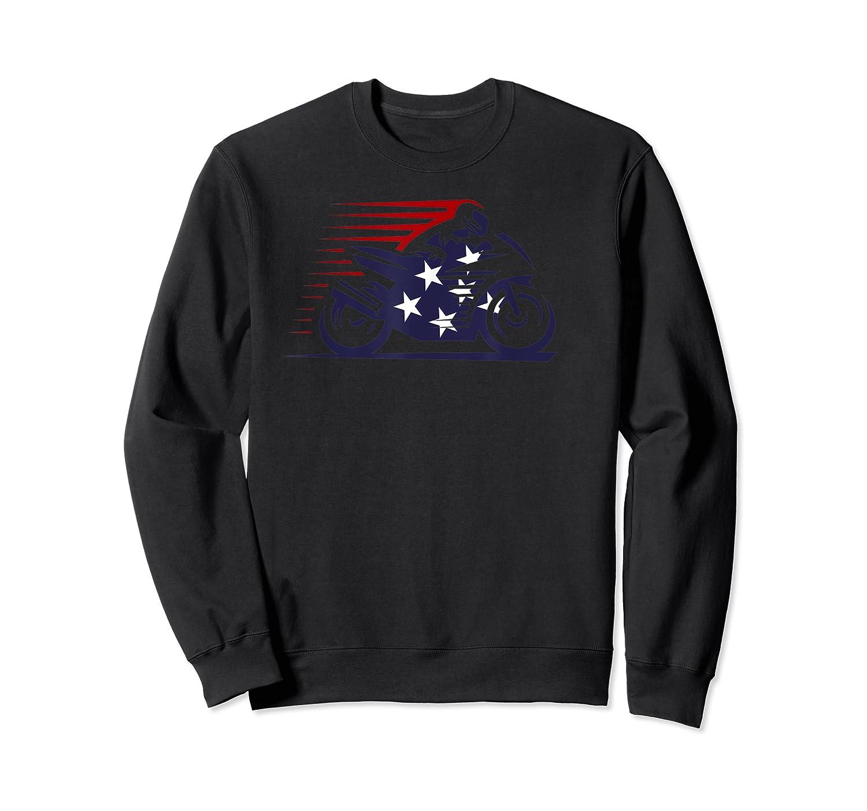 American Flag Super Bike Moto Gp Independence Day T Shirt Crewneck Sweater