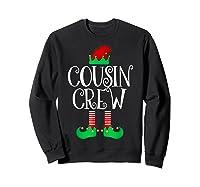 Cousin Crew Elf Gift Family Matching Christmas Ugly Shirts Sweatshirt Black