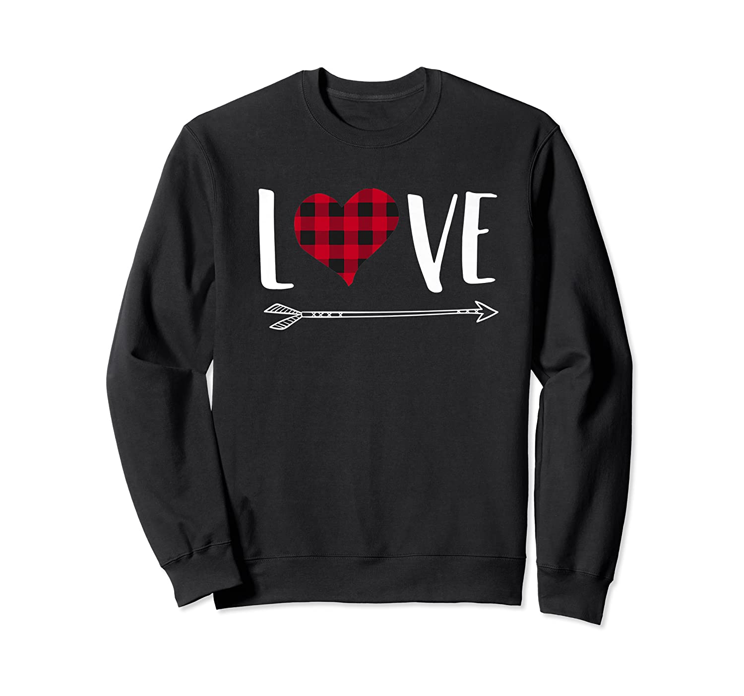 Love Heart Arrow T Shirt Best Gift For Valentines Day Crewneck Sweater