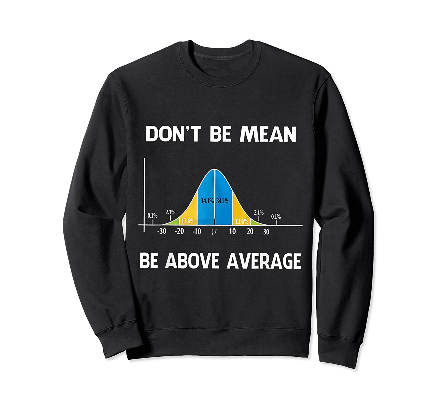 Don T Be Mean Be Above Average Funny Math Lover Gift T Shirt T Shirt Crewneck Sweater