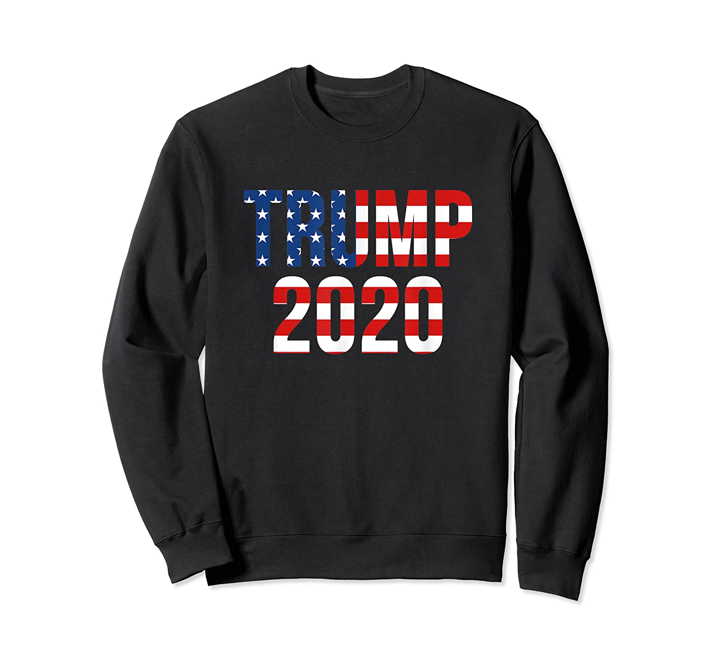 President Trump 2020 American Flag Usa Presidential Election T Shirt Crewneck Sweater