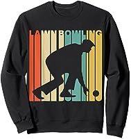 Vintage Style Lawn Bowling Silhouette T-shirt Sweatshirt Black