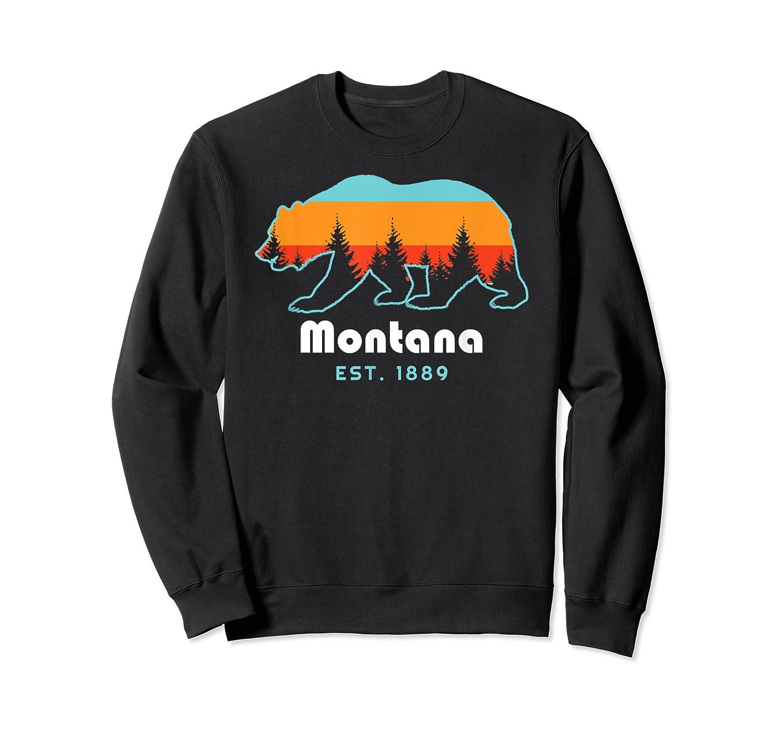 Montana 1889 Wilderness Mountain Wildlife Bear Tshirt Crewneck Sweater