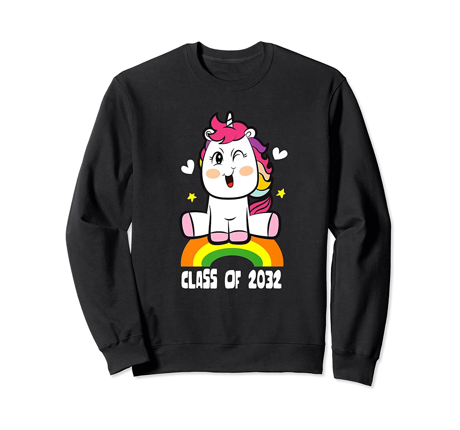 Unicorn First Day Of School Class Of 2032 Grow With Me Premium T-shirt Crewneck Sweater