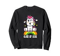 Unicorn First Day Of School Class Of 2032 Grow With Me Premium T-shirt Sweatshirt Black