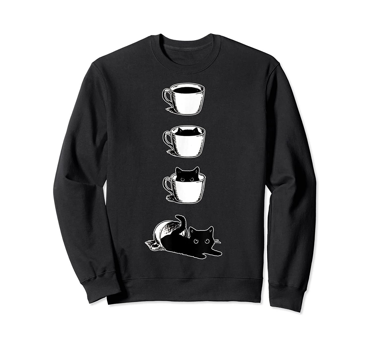 Cat In The Cup Funny Cat Lover Gifts Shirts Crewneck Sweater