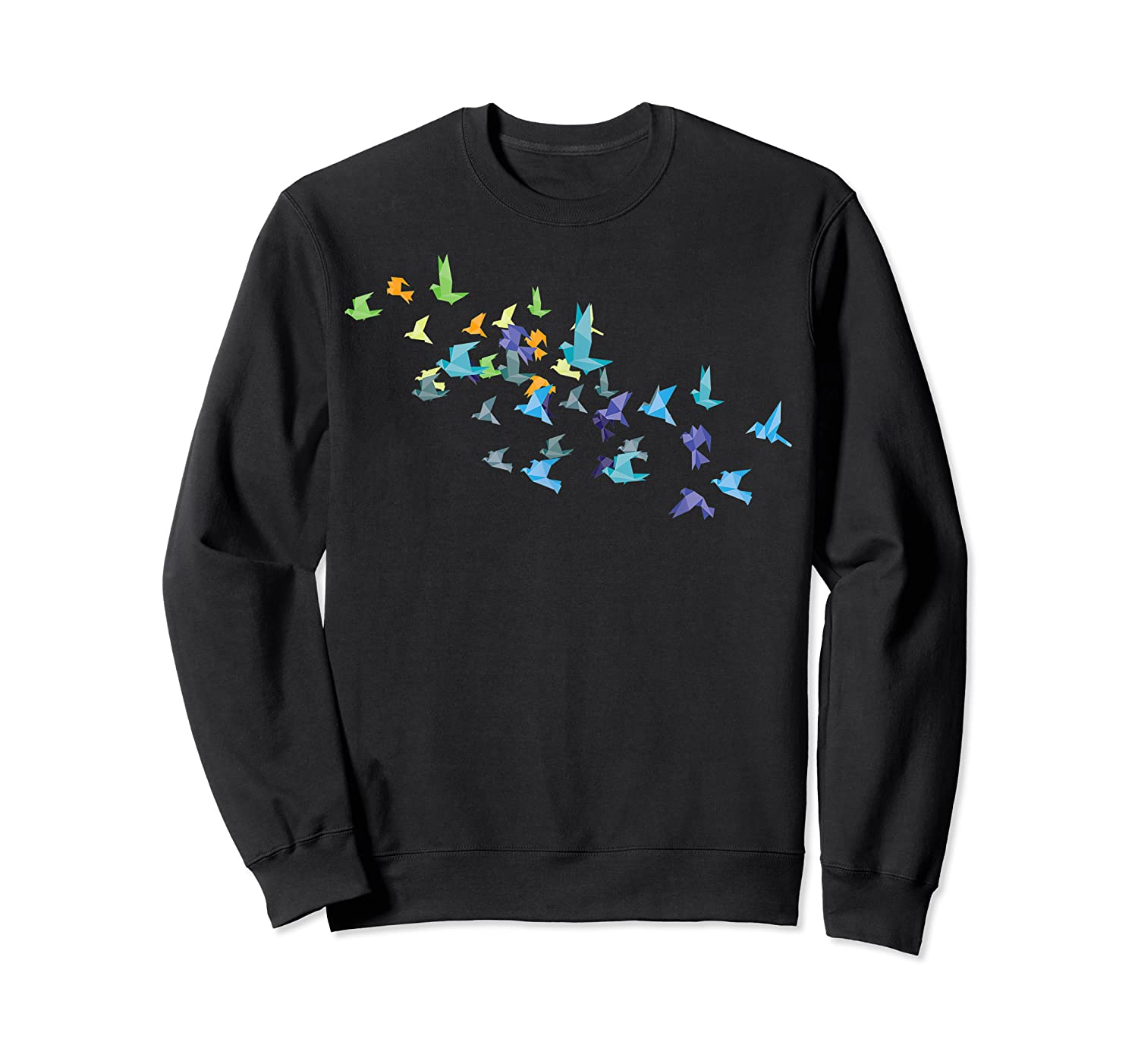 Origami Paper Cranes Japanese Culture Bird Lovers Gift T Shirt Crewneck Sweater