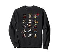 Friends Pixel Halloween Icons Scary Horror Movies Premium T Shirt Sweatshirt Black