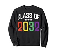 Class Of 2032 Color Stars Grow With Me Kindergarten Gift Shirts Sweatshirt Black