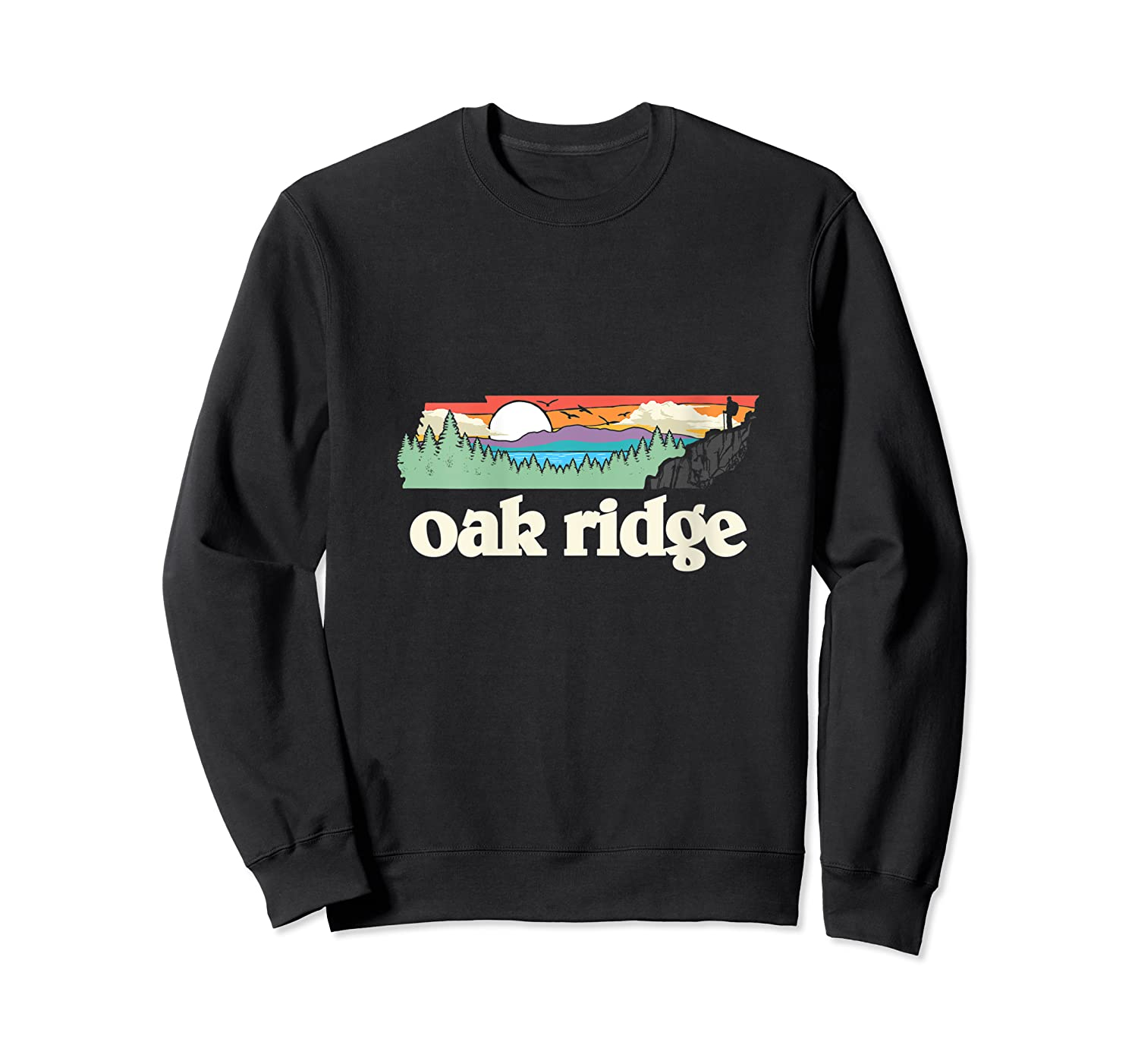 Oakland Tennessee Outdoors Retro Nature Graphic T-shirt Crewneck Sweater