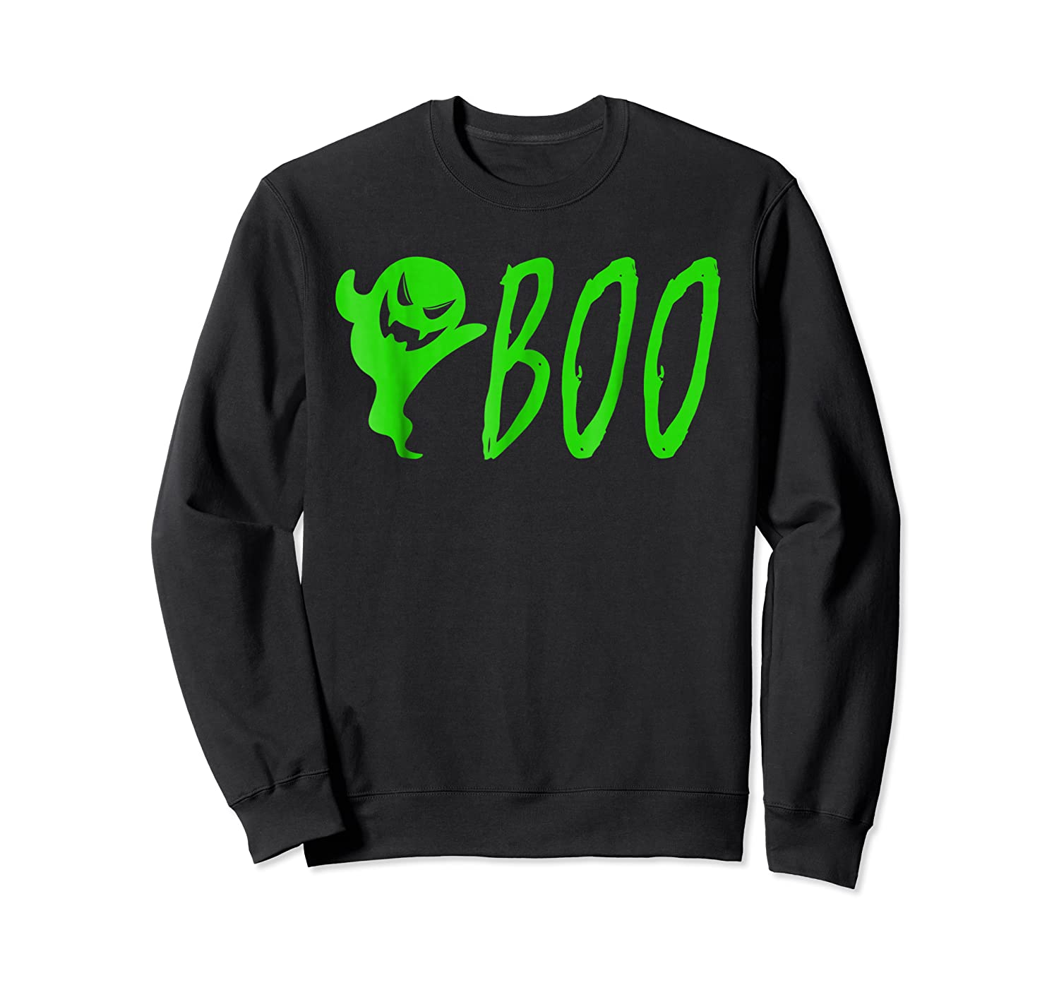 Funny Spooky Ghost Halloween Holiday Trick Or Treat Shirts Crewneck Sweater