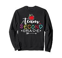 Team 2nd Second Grade Back To School Tea Gift Shirts Sweatshirt Black