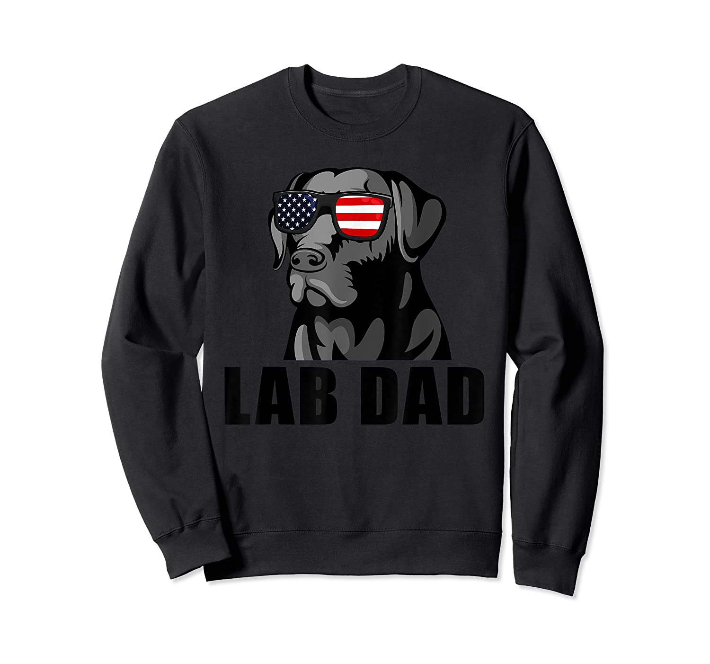 Chocolate Labrador Hashtag Lab Dad Tshirt Father Day Gifts Crewneck Sweater