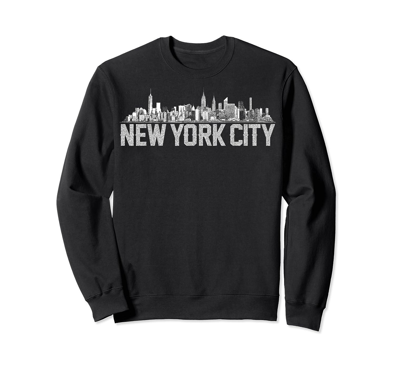 New York City Skyline Shirt For Girls  Crewneck Sweater
