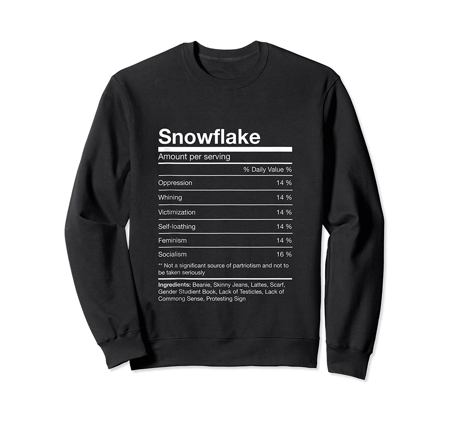 Funny Snowflake Nutrition Facts Family Christmas Parody Tank Top Shirts Crewneck Sweater