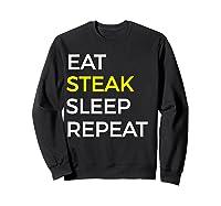 Beef Steak, Meat Bbq Gift Shirts Sweatshirt Black