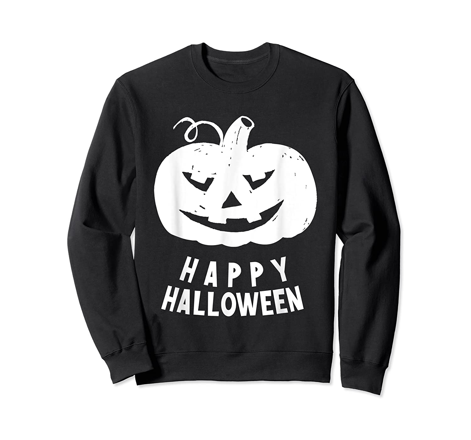 Funny Happy Halloween Costumes Scary Spooky Pumpkin Costume Shirts Crewneck Sweater