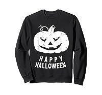 Funny Happy Halloween Costumes Scary Spooky Pumpkin Costume Shirts Sweatshirt Black