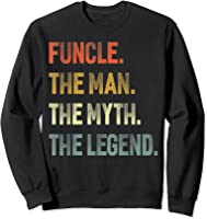 Funcle The Man The Myth The Legend Uncle Father Day Gift T-shirt Sweatshirt Black