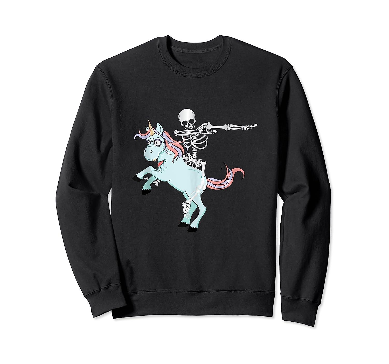 Skeleton Riding Zombie Unicorn Cute Halloween Tank Top Shirts Crewneck Sweater