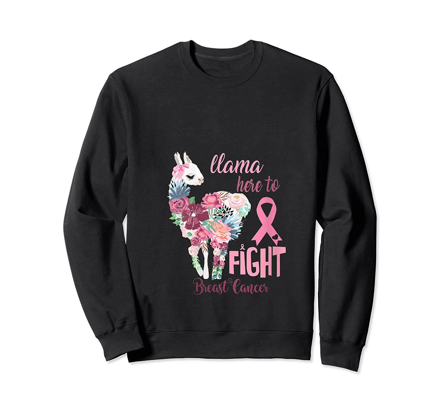 Floral Breast Cancer Awareness Month Here To Fight T Shirt Crewneck Sweater