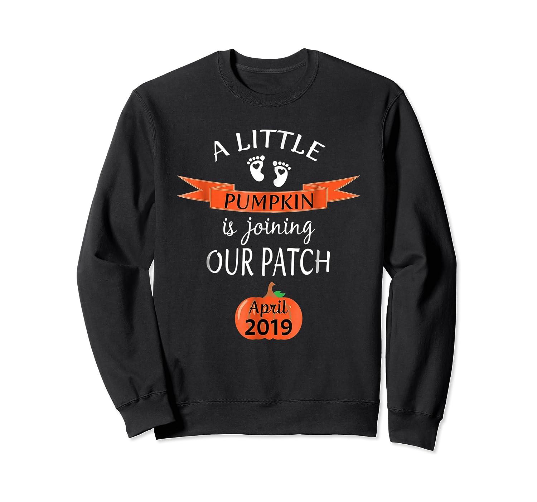 Halloween Pregnancy Announcet Tshirt Pumpkin April 2019 Crewneck Sweater