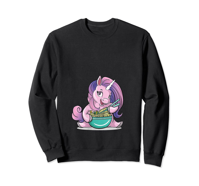 Kawaii Baby Unicorn Eating Ra Noodles Food Gift T-shirt Crewneck Sweater