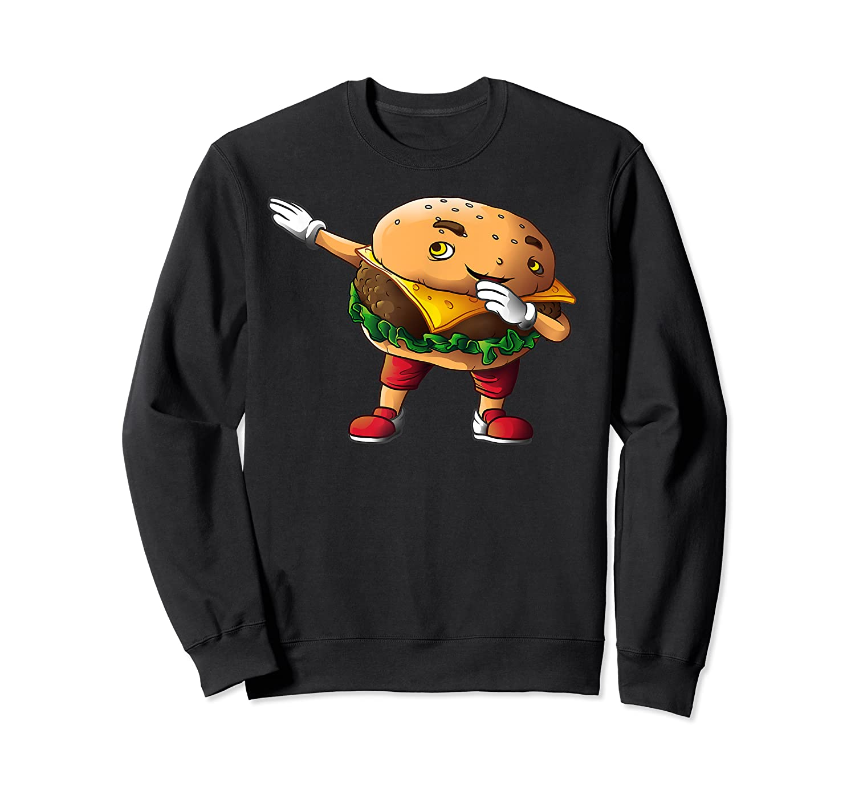 Cool Dabbing Burger Funny Street Dancer Hamburger Lover Gift T Shirt Crewneck Sweater