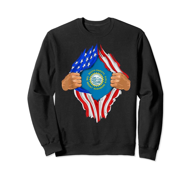 South Dakota Roots Inside State Flag American Proud Shirts Crewneck Sweater