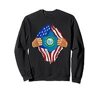 South Dakota Roots Inside State Flag American Proud Shirts Sweatshirt Black