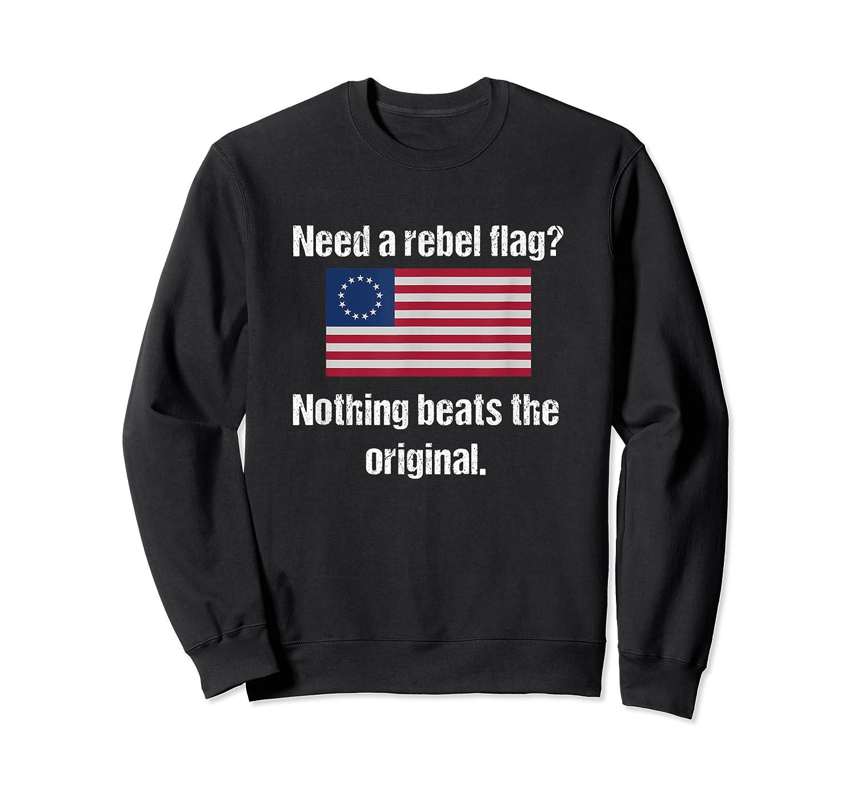 The Original Rebel Colonial Flag T Shirt Crewneck Sweater