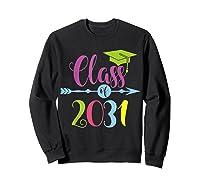 Class Of 2031 Grow With Me Kindergarten Graduate Gift T-shirt Sweatshirt Black