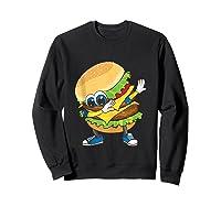 Cool Dabbing Burger Funny Street Dancer Hamburger Lover Gift Tank Top Shirts Sweatshirt Black