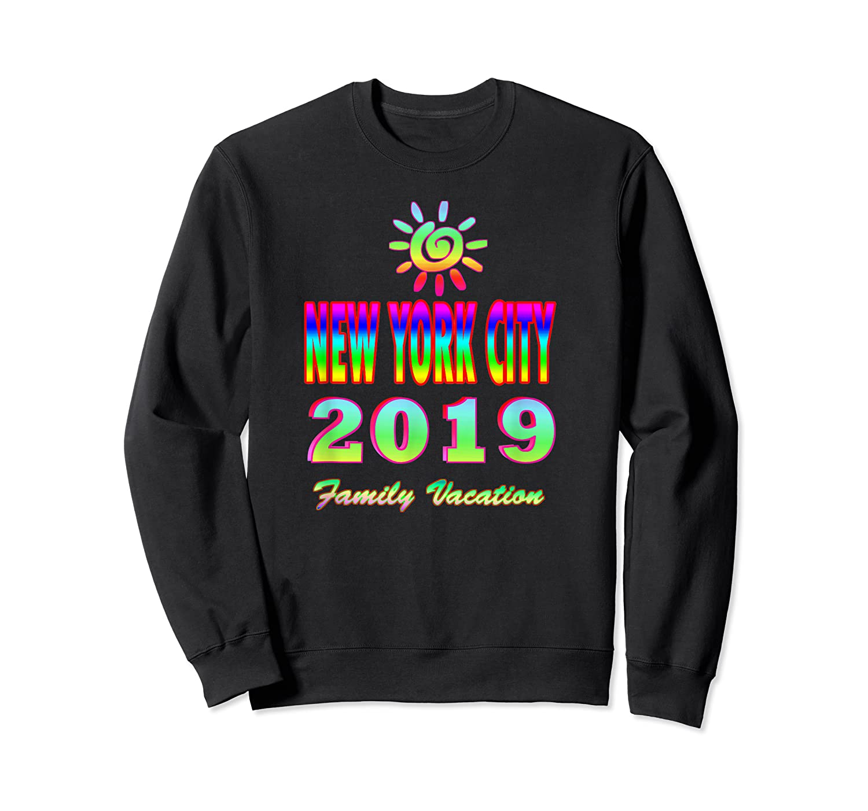 New York City Family Vacation 2019 Spiral Sun Rainbow T Shirt Crewneck Sweater