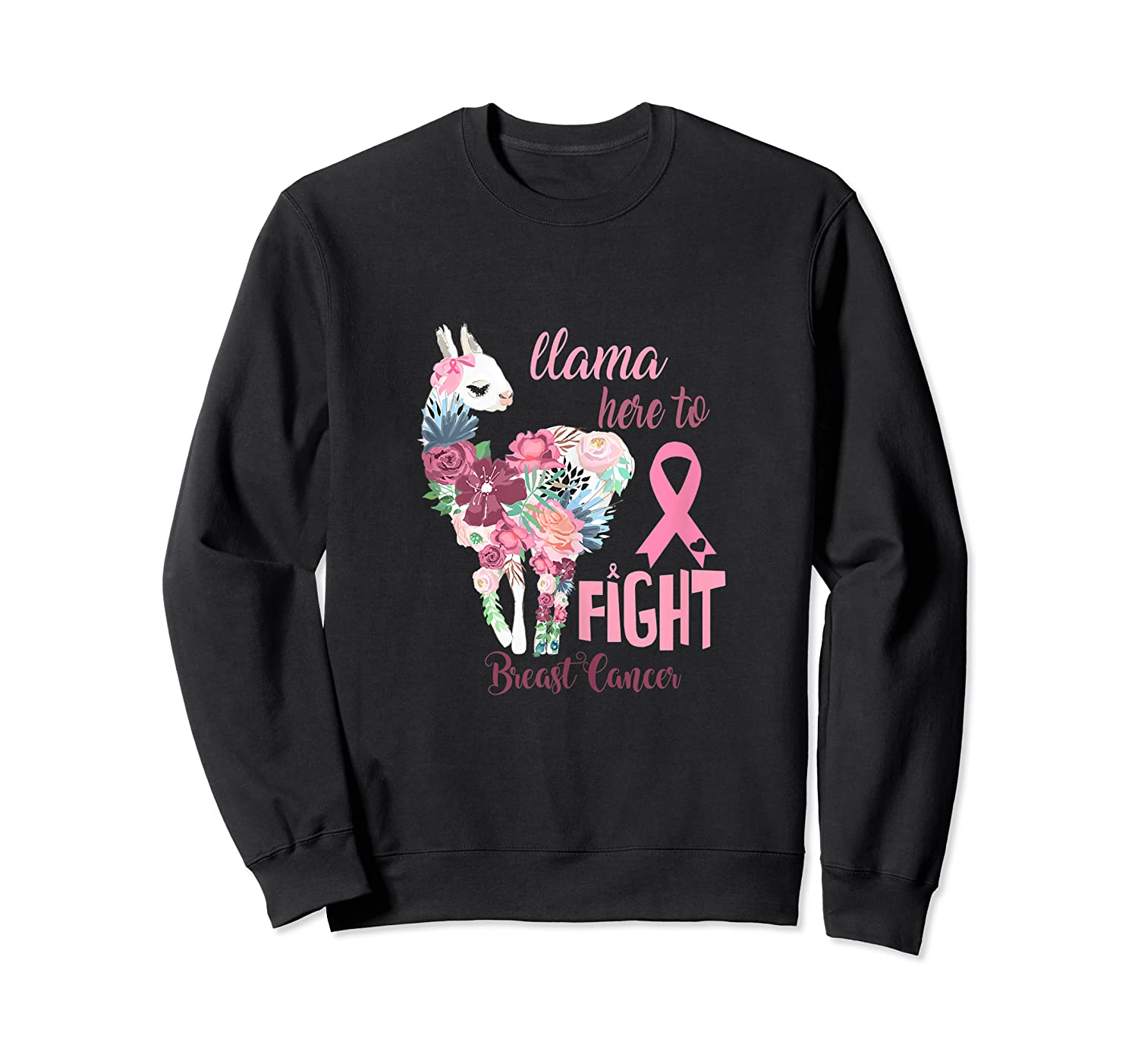 Floral Breast Cancer Awareness Month Here To Fight Tank Top Shirts Crewneck Sweater