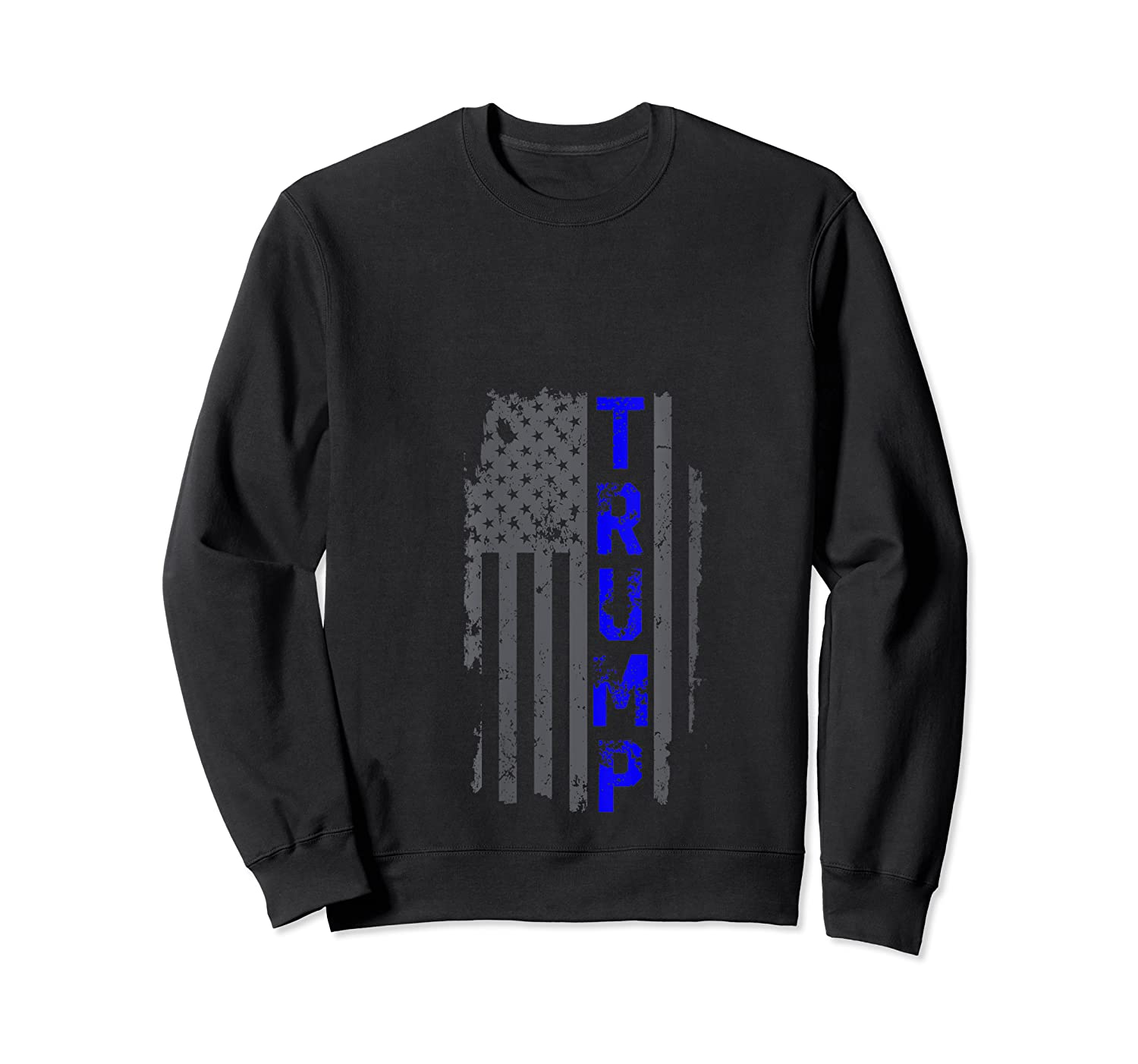 Thin Blue Line Police Officer Election 2020 Donald Trump T-shirt Crewneck Sweater