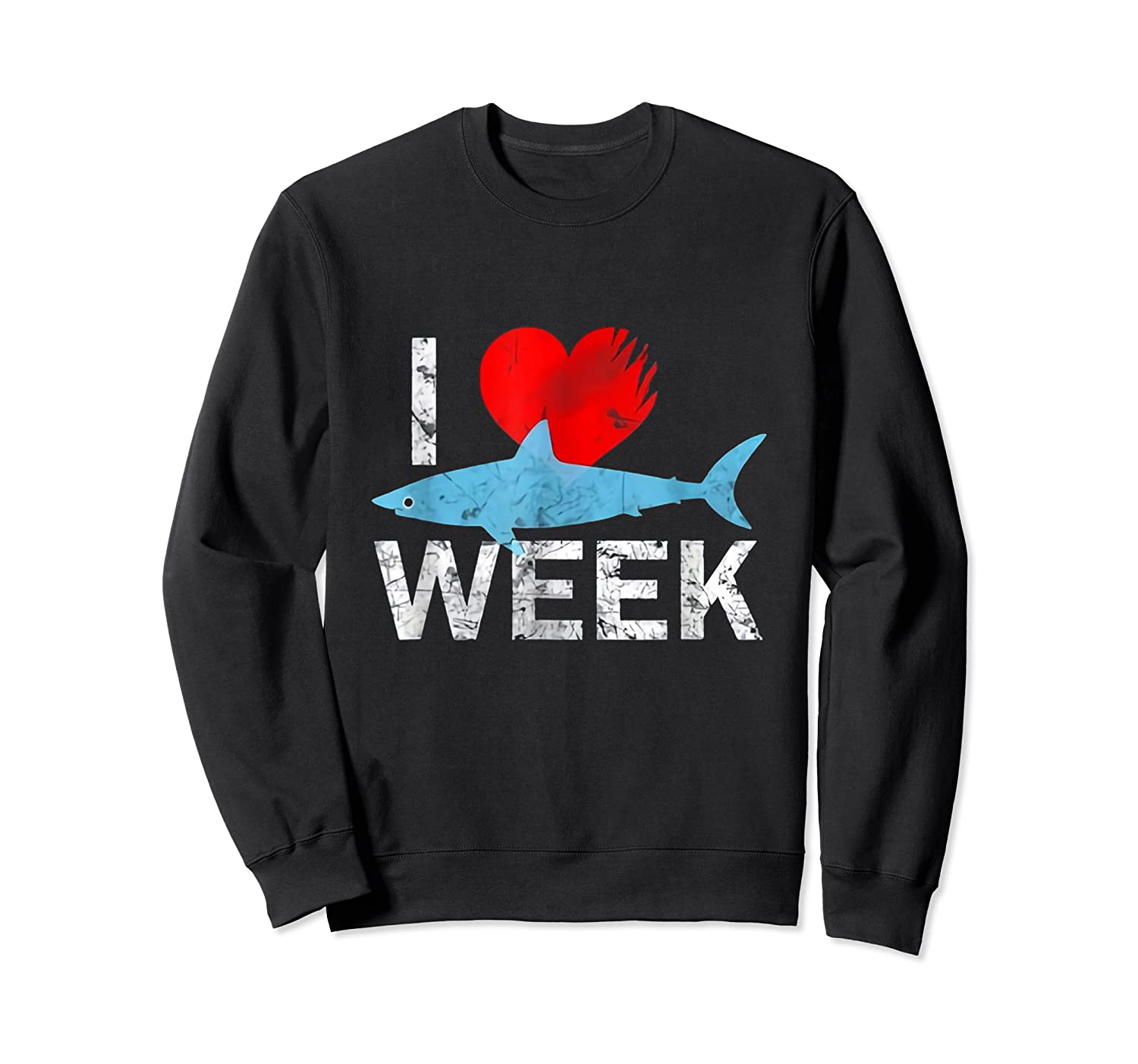 I Wait All Year For This Week T-shirt Funny Shark Tee Crewneck Sweater