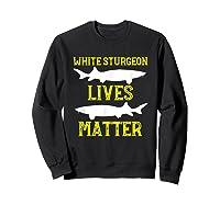 Sturgeon Fishing Shirt Fish T-shirt Gift Sweatshirt Black
