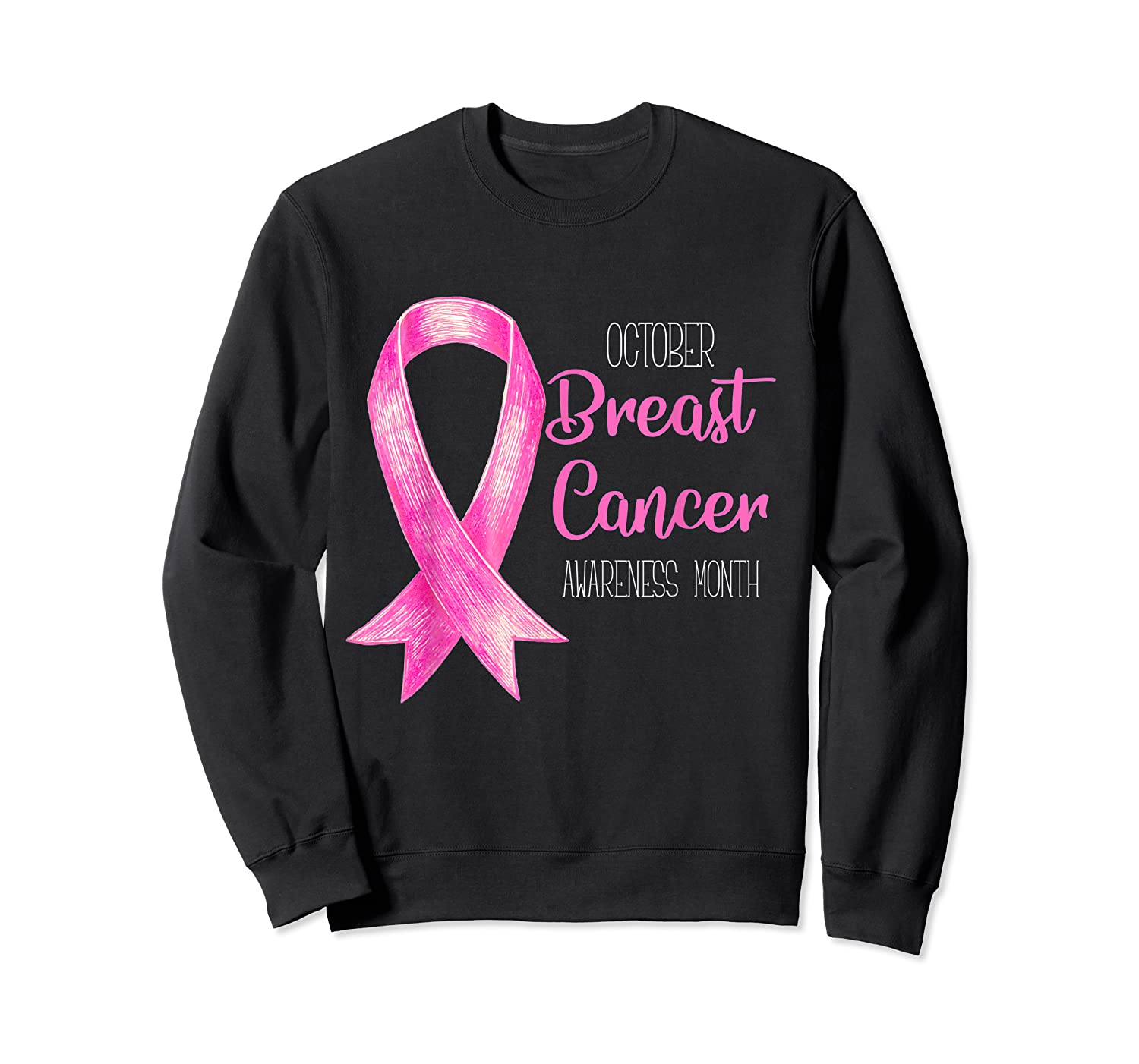 October Breast Cancer Awareness Month Shirt Show Support Crewneck Sweater